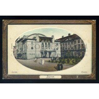 SOPRON 1914. Színház, régi képeslap ## - Helytörténet Webshop