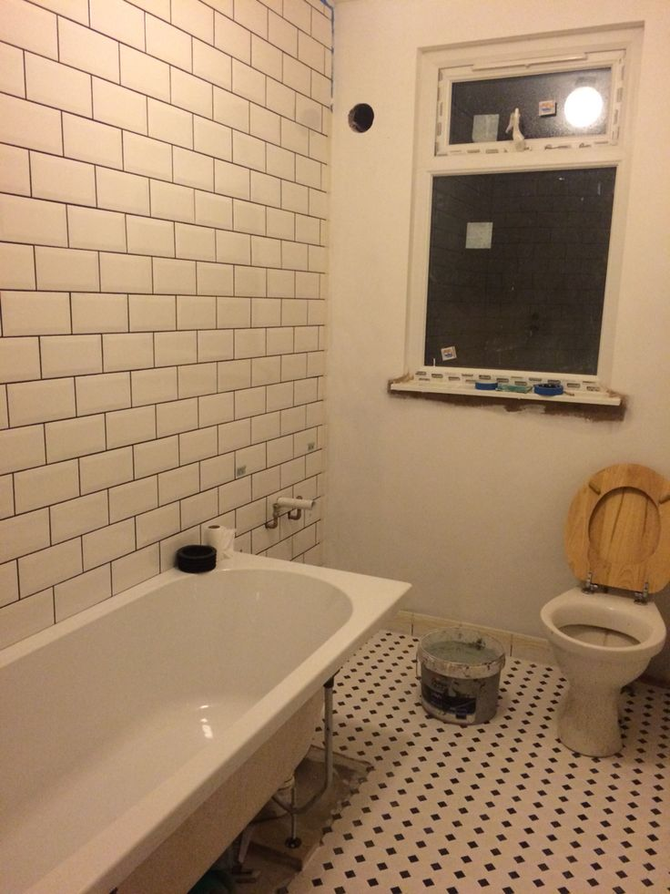 Tiles... And a semi working toilet