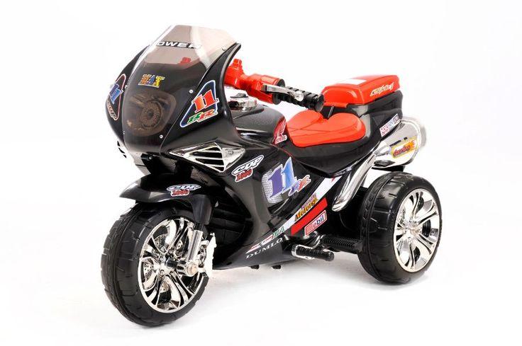 Elektro Kindermotorrad - 6V Akku - fast 100cm lang -mit Mp3 -   Ihr Kind kann selbst mit Lenker bzw. Pedalen das Motorrad kontrollieren. Dank einem 6V Elektro Motor und 6V4,5Ah Batterie hat er genug Kraft um die Kinder mit bis zu 30 kg tragen zu können.  Bis zu 4 Km/h schnell  Mit Mp3 Anschluss