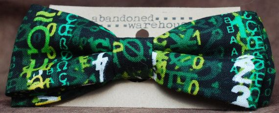 Matrix Code bow bow tie / hair bow by AbandonedWarehouse on Etsy