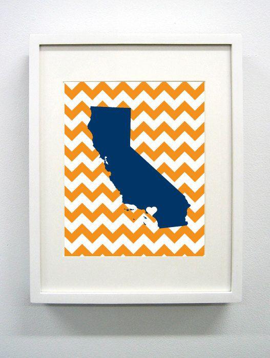 California State University, Fullerton Giclée Print - 8x10 -  Go Titans - Cal State Fullerton. $14.00, via Etsy.
