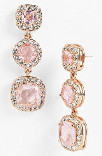 pretty pave linear earrings
