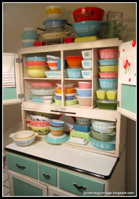 Love this collection and would love to be able to do this one day with my great grandma's cabinet that looks like this.