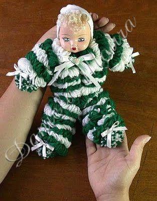 papo serio demulher: Boneca de Lã...