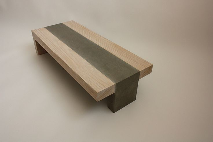concrete wood table
