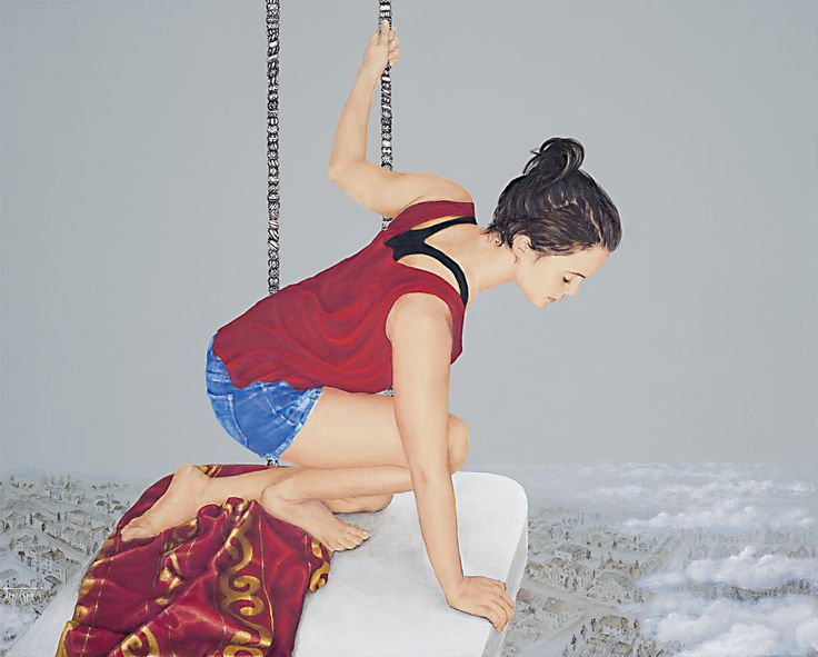 artist Barbara Gerodimou * The swing ~ Oilpainting on canvas * www.gerodimou.com