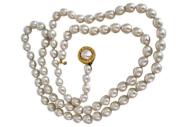 Karl Lagerfeld Glass Pearl Necklace