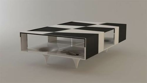 Moderne attraktive Couchtische fürs Wohnzimmer – 50 coole Bilder - trendy eigenartige kaffeetische schwarz weiß quadraten