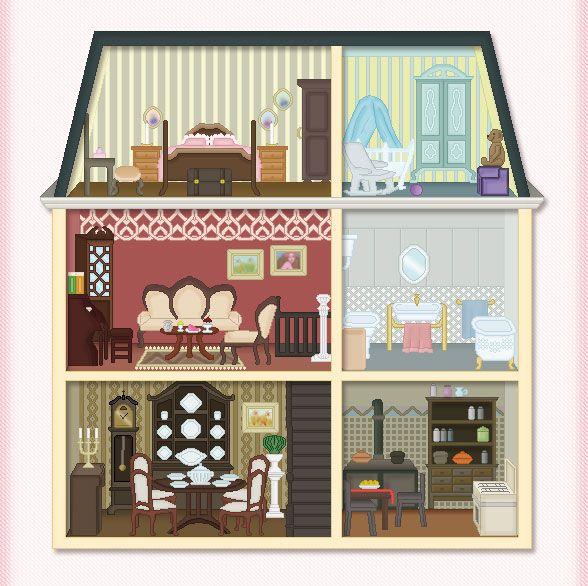Line Art Doll House : Best printable images on pinterest dollhouses