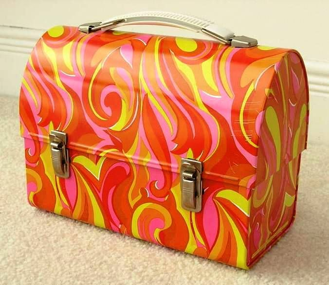 redo on vintage lunch box... cool!