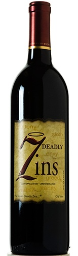 7 Deadly Zins Zinfandel: 7 Deadly Zins Zinfandel is a vibrant ruby color with lots of rich earth and dark berry aromas on the nose.  Bright raspberry, cranberry fruit, with some warm spice on the lingering finish, according to the winemaker.