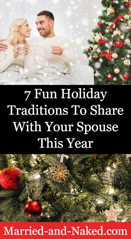Sometimes the holiday season can get chaotic and we can loose site of what the holidays are all about.  Stay connected with your spouse this season with these 7 fun holiday traditions to share with your spouse this year.  #marriage