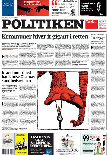 Capitolium 2 in use in Politiken newspaper.