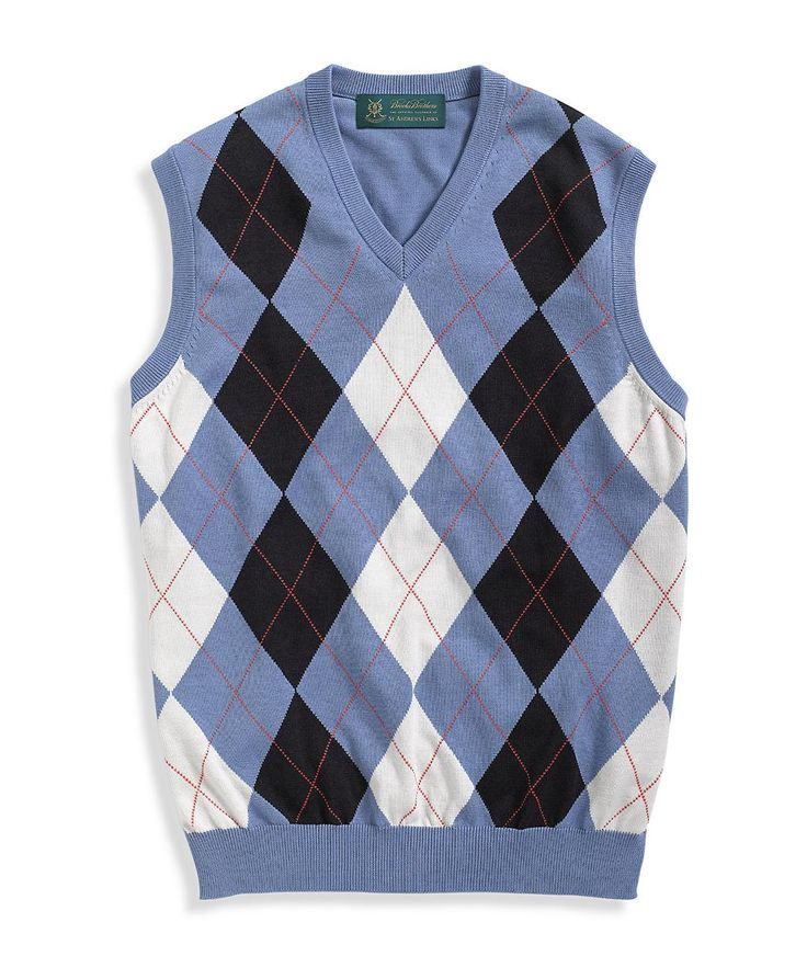 Sweater Vest. Oh yeah argyle rocks my socks.