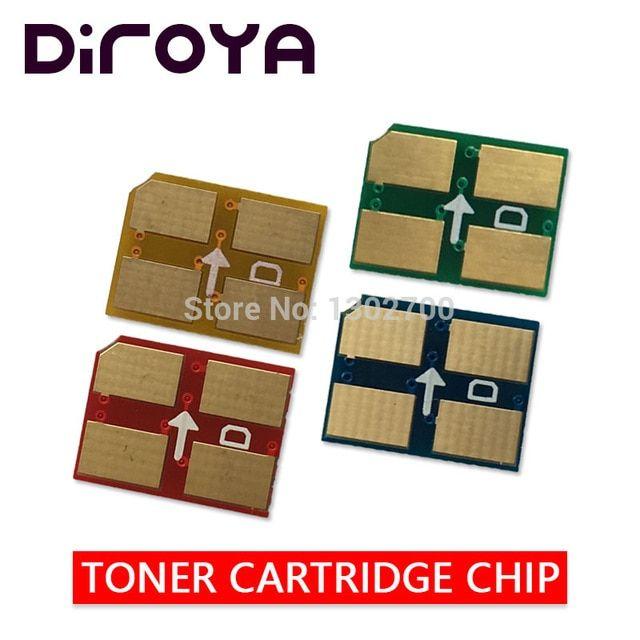 2set K300a C300 M300 Y300a Toner Cartridge Chip For Samsung Clp
