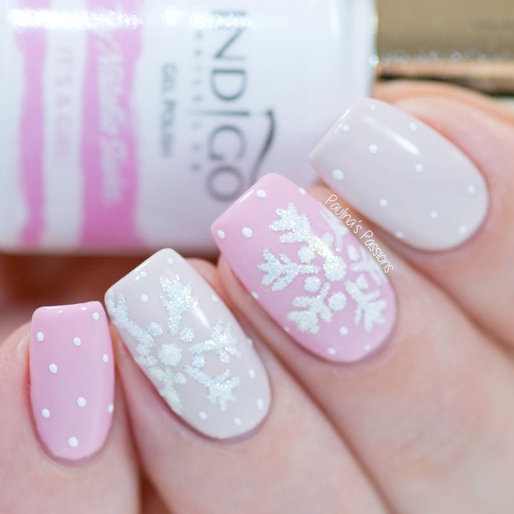 Sparkly Snowflake Nail Art with Gel Polish   VIDEO TUTORIAL