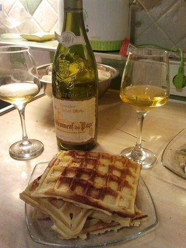 Gaufre salée à la pomme de terre - Recette de cuisine Marmiton : une recette