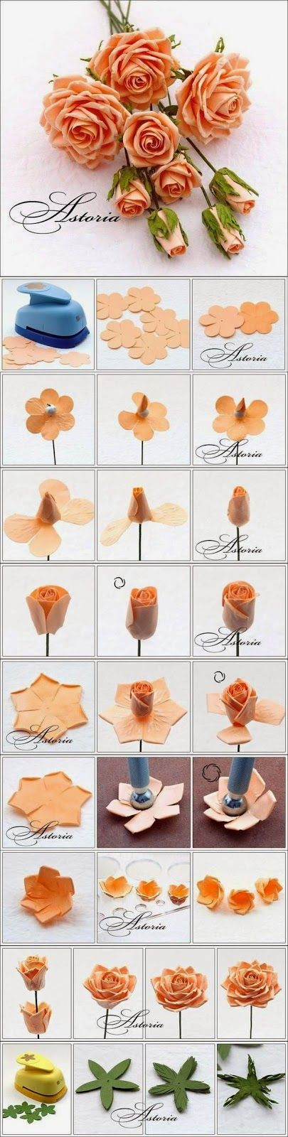 Easy Craft Idea : BOUQUET OF DELICATE FLOWERS. - FLOWERS FROM PAPER