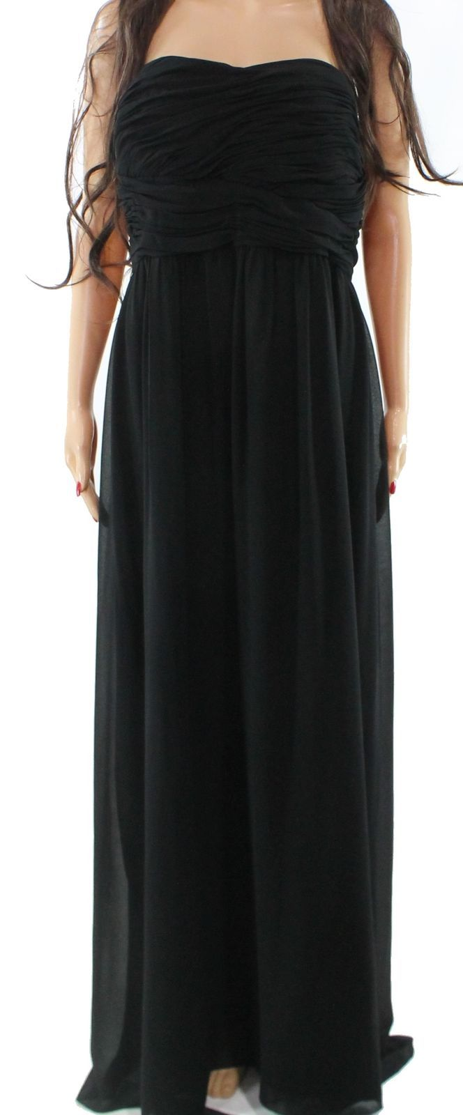 Cool Awesome Donna Morgan Black Women's Size 22W Plus Strapless Empire Waist Dress $298- #564 2017/2018