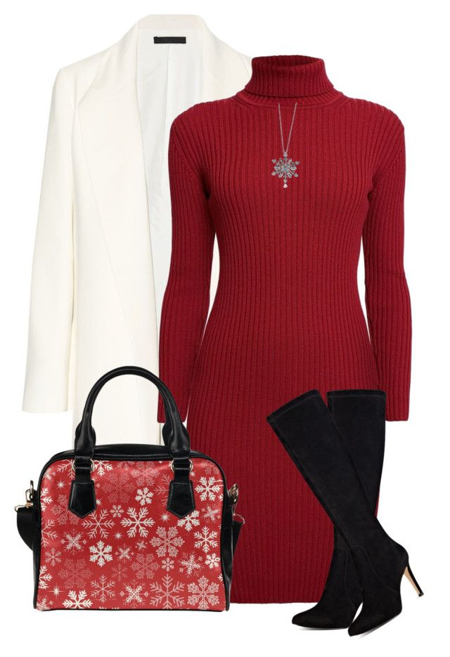 christmas by oxigenio on Polyvore featuring polyvore, fashion, style, Rumour London, The Row, Nine West, BERRICLE and clothing