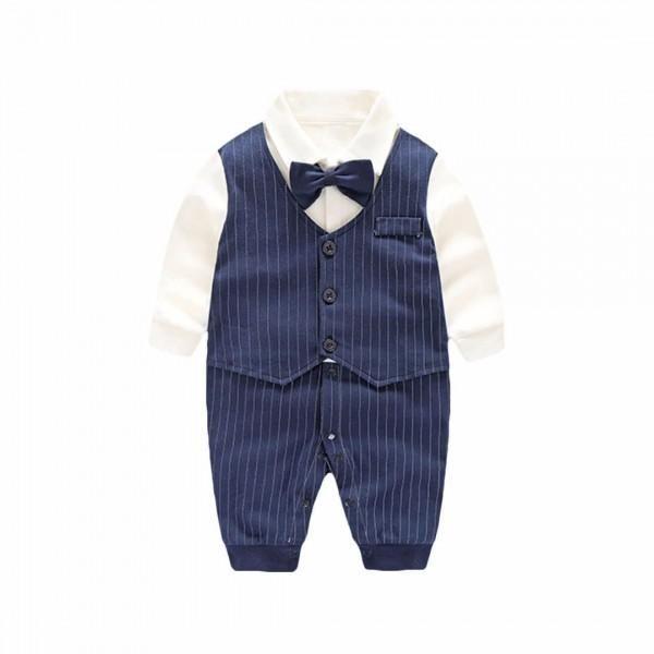 5d8d95244 Newborn/Infant's Faux-Suit Bow-Accent Snap-Up Jumpsuit | Beaudry ...