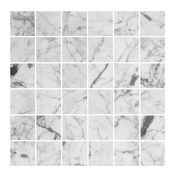 U4848 Carrara Polished, mosaik för både badrum och kök.