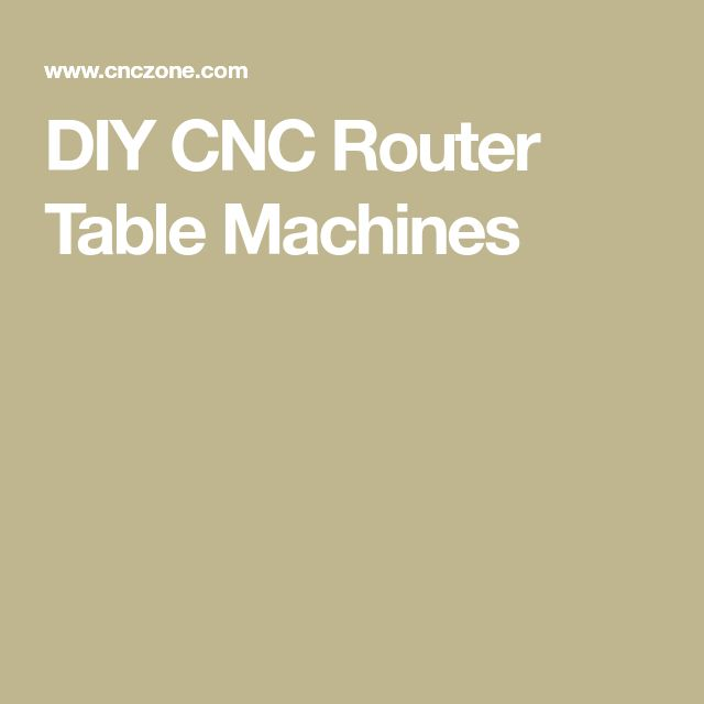 DIY CNC Router Table Machines