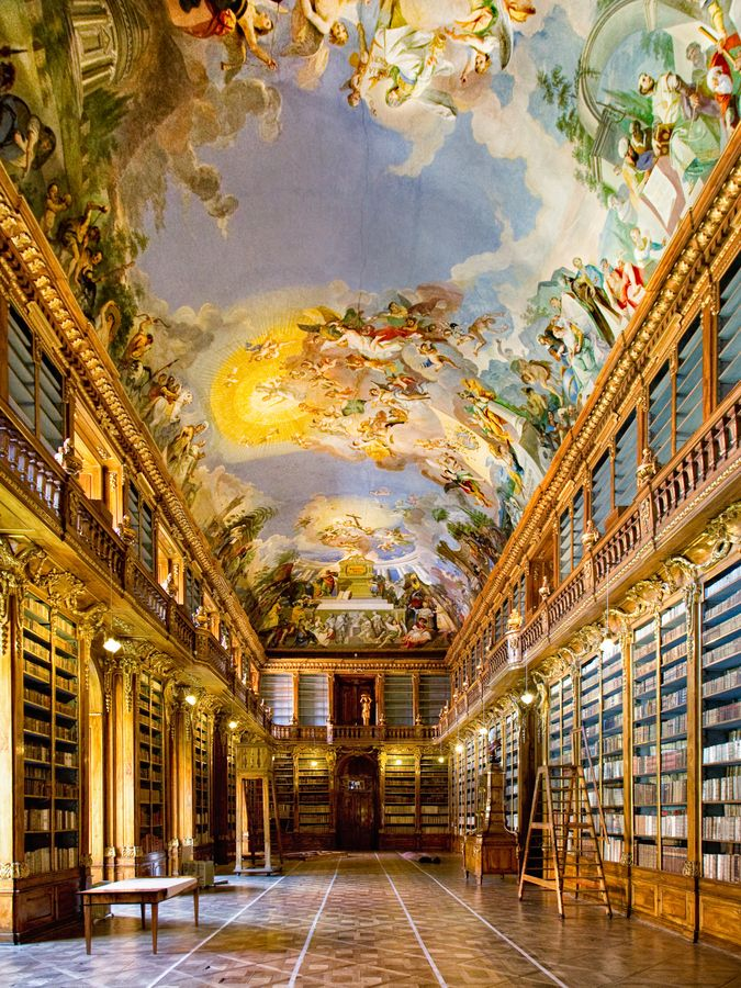 National Library, Czech Republic  ♥ ♥ www.paintingyouwithwords.com