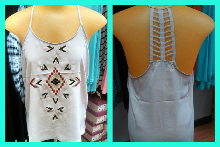 AZTEC STRAPPY TOP