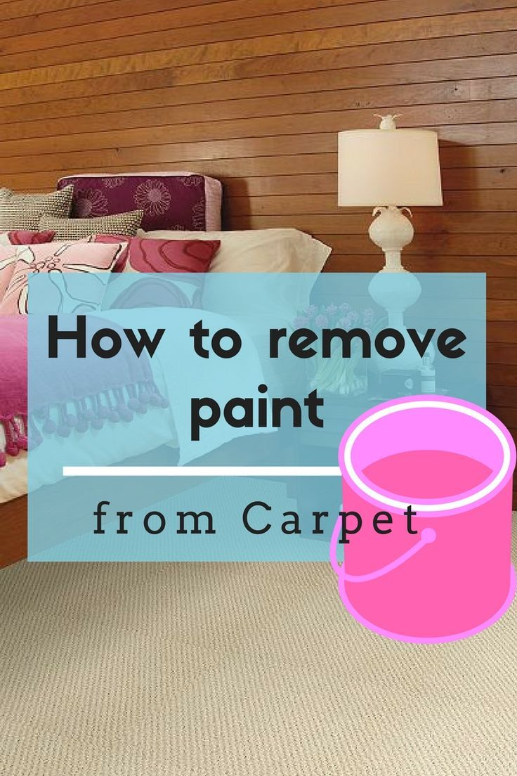 Where was this article six years ago when I spilt yellow paint all over the bedroom carpet!