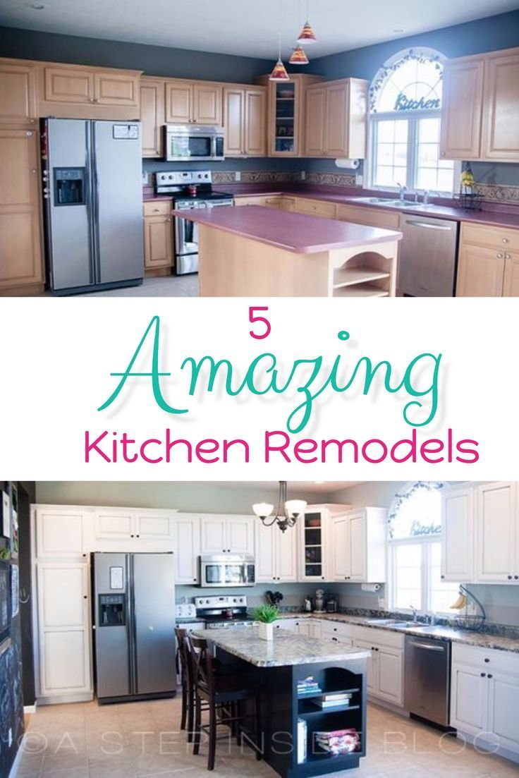 Kitchen makeover ideas and kitchen remodel ideas - best kitchen before and after pictures on Pinterest. 5 Amazing Kitchen Remodels - Before and After Kitchen Makeover Ideas that you will LOVE!