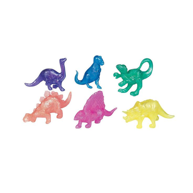 24 SQUISHY DINOSAUR T-Rex 2 Dozen Kids Birthday Party Favors Play Toys Fun 39/16 #FunExpress #Birthday #Favors