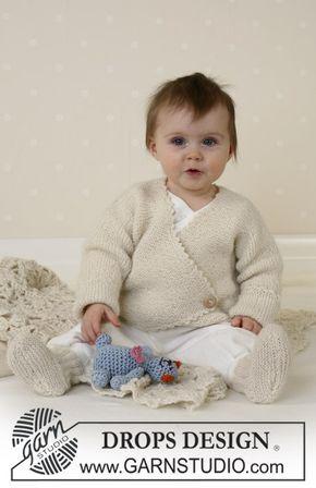 DROPS kofta, sockor, nalle och filt i Alpaca. Gratis mönster från DROPS Design.