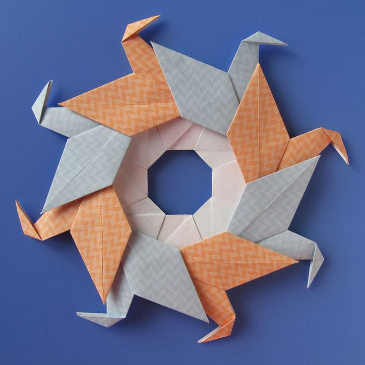 Origami modulare, Ghirlanda di anatre - Garland of ducks by Francesco Guarnieri