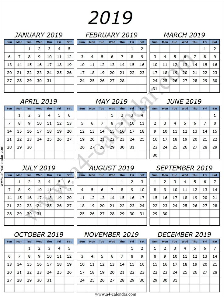 printable 2019 calendar by month with lines