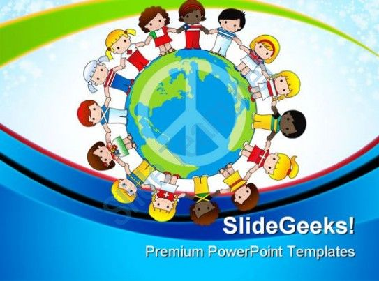 Diversity Of Children Global PowerPoint Templates And PowerPoint Backgrounds 0611  Presentation Themes and Graphics Slide01
