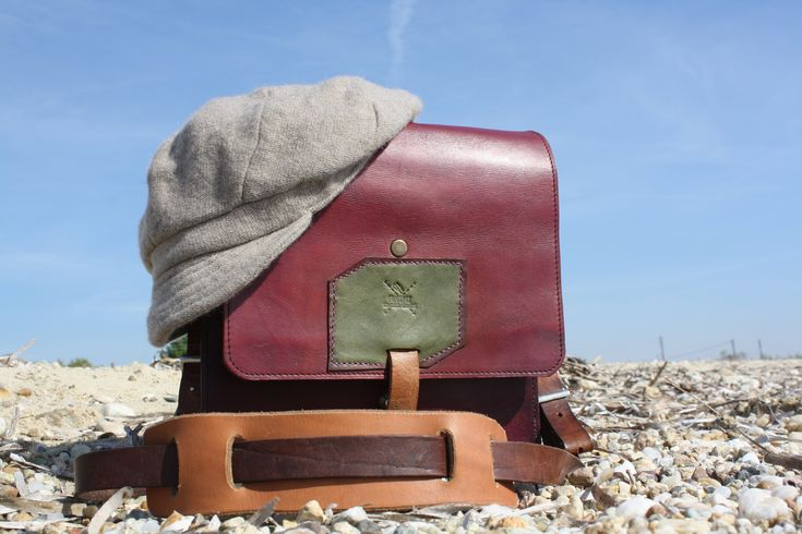 handmade leather messenger bag by leather crafts anthi