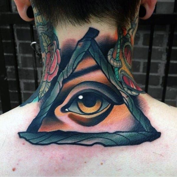 This Is One Of The Eye Tattoo Ideas That Carry An Appealing Color Blend Along With Incredible 3d Effec Traditional Tattoo Design Eye Tattoo Traditional Tattoo