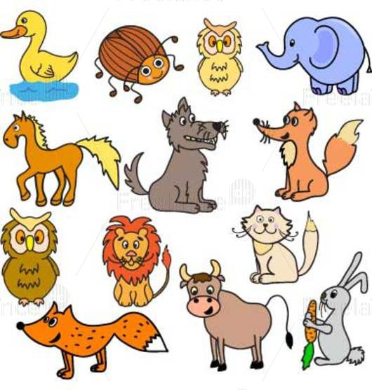 A set of cartoon animals. Vector illustration for children. Buy, sell ready-made graphics.