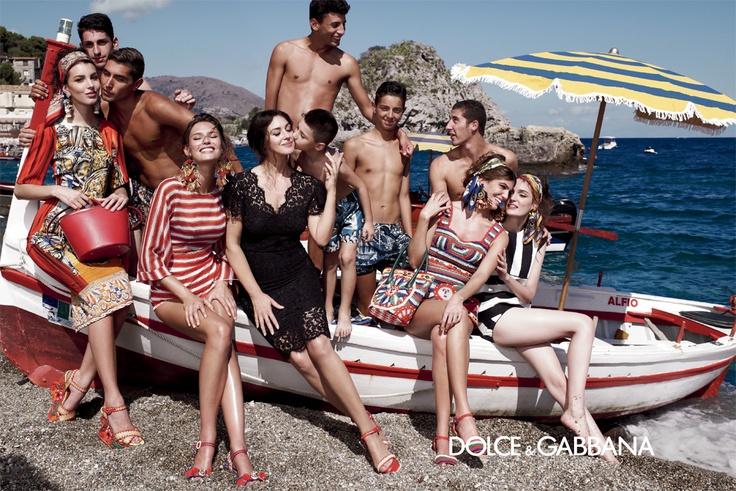 Summer 2013 womenswear campaign: Monica Bellucci, Bianca Balti and Bianca Brandolini d'Adda with top models Zuzanna Bijoch and Kate King shot by Domenico Dolce