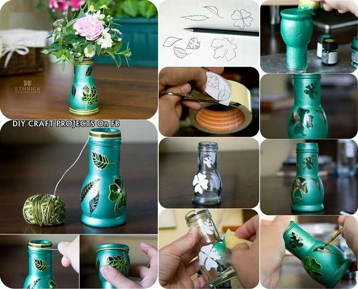 Diy vase from bottle