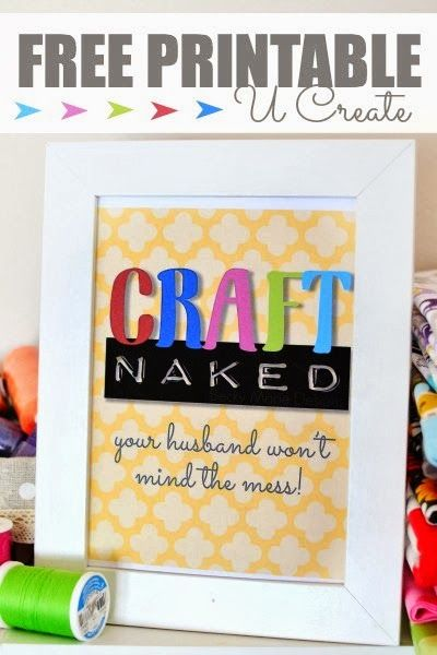 Free Funny Craft Room Printable