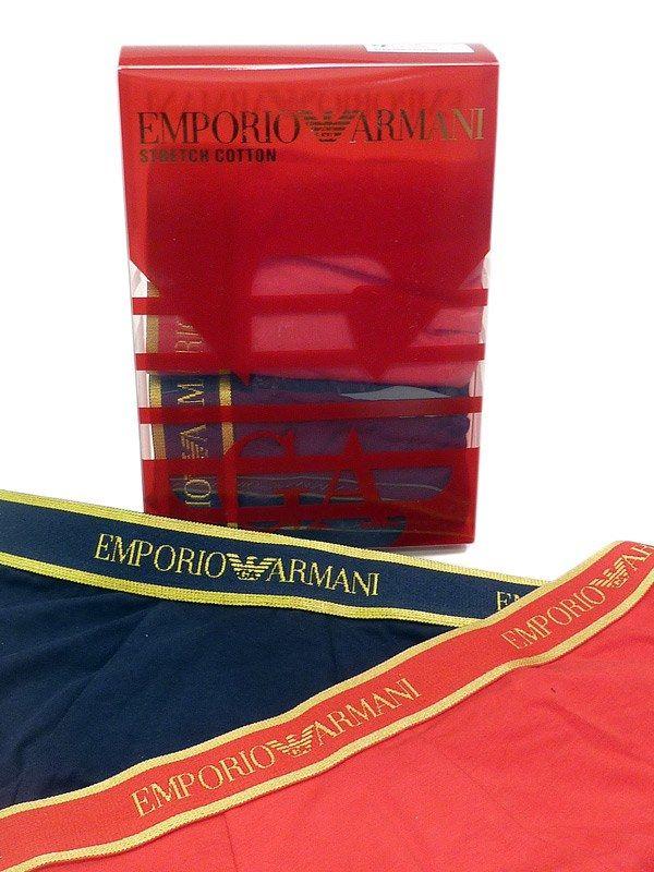 OFERTA   2 Pack Boxers Emporio Armani   CAJA REGALO compuesta por dos boxers de algodón elastizado   + opciones de regalo para hombre en varelaintimo.com