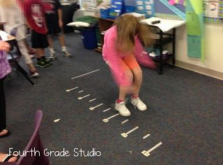 Fourth Grade Studio: Learning, Thinking, Creating: Hands On (and feet and breath on!) Line Plots!