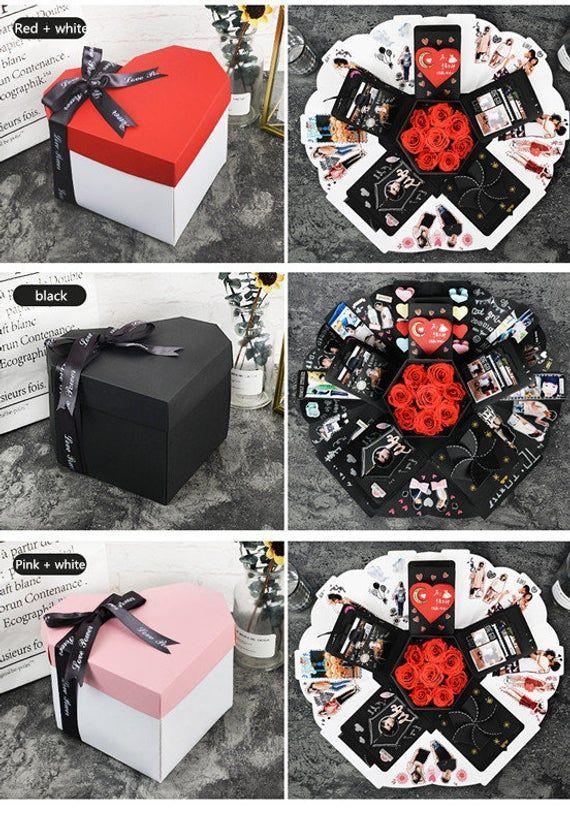 EBG-Love explosion box, DIY handmade photo album customization, creative couple romantic birthday gi