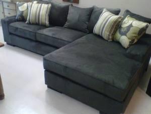 Grey Corduroy Sectional Sofa Conceptstructuresllc Com