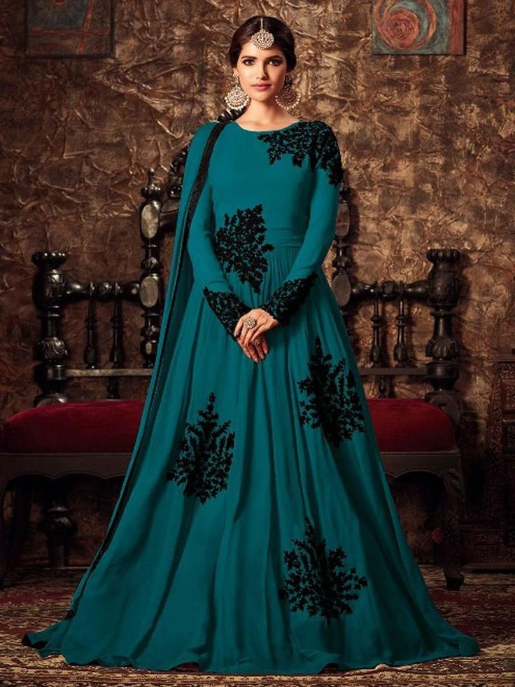 Indian designer bollywood stylish party wear dresses gown for girls | eBay