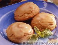 Фото к рецепту: Печенье с коричневой сахарной глазурью