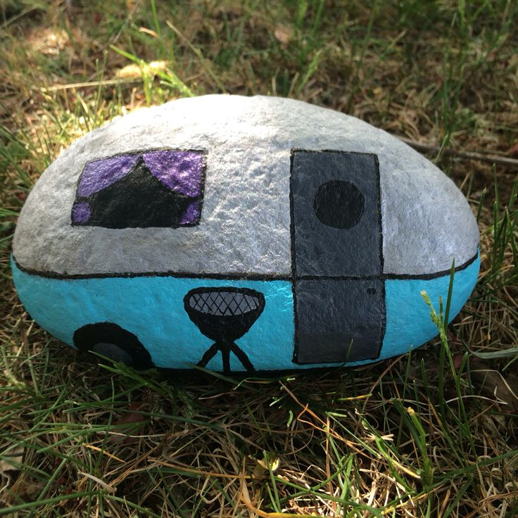 Painted rock trailer