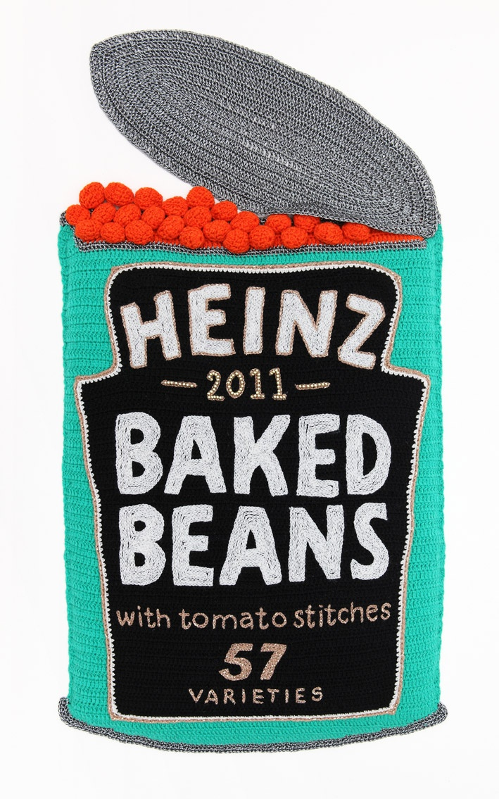 Embroidered baked beans ....